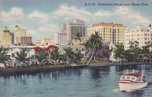 Florida Miami Downtown Miami From Miami River 1946