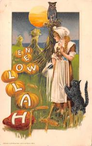 Halloween Post Card Old Vintage Antique Samuel Schmucker Unused