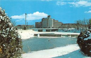 Frankenmuth Michigan~Carling Brewing Company & Cass River Dam in Winter~1974 PC
