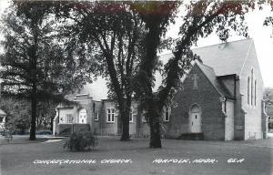 Norfolk Nebraska~Congregational Church~Real Photo Postcard c1950