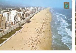 Postal 044723 : Gandia (Valencia). Playa. Vista aerea
