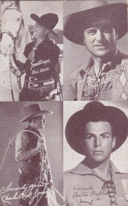 Cowboy : Bill Boyd, Ray Whitley, Charles Buck Jones, & Buster Crable, 30s-40s