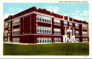 Kansas Parsons Junior High School Curteich