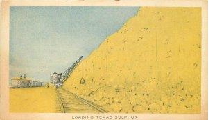Advertising Railroad Loading Texas Sulphur Industries Postcard 20-2821