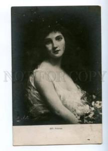 176143 BELLE Woman SPRING Flowers  by Angelo ASTI Vintage Card