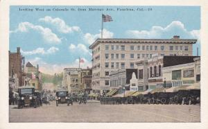 West on Colorado Street , PASEDENA , California , 1910s-30s
