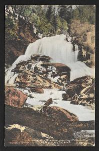 Winter View Lower Cullasaja Falls Macon Co North Carolina Unused c1910s