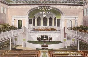 Interior Swedish Baptist Temple Boston Massachusetts 1909