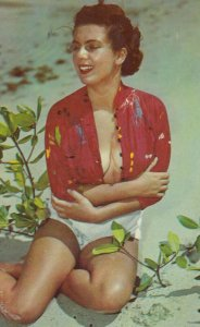 PIN-UP; Girl in red top, 1950-60s