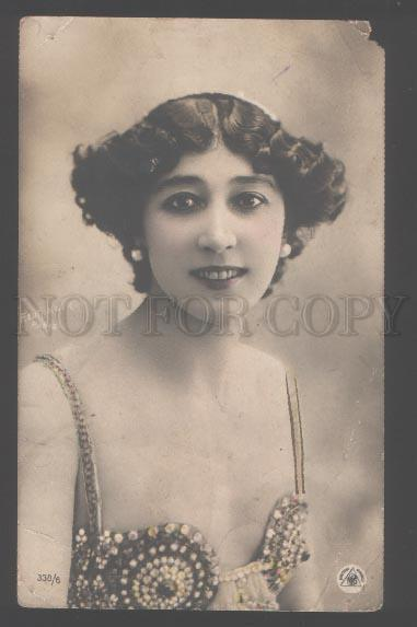 103416 OTERO Spanish Singer BELLY DANCER Vintage REUTLINGER PC