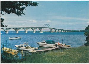 Monbroen, The Bridge Zealand-Mon, unused Postcard