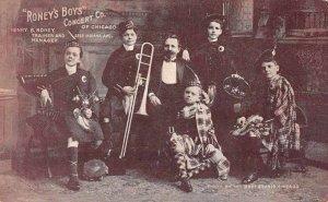 Chicago Illinois Roney's Boys Concert Co Band Vintage Postcard JJ658689