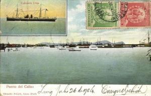 peru, CALLAO, Puerto, Cañonera Lima (1904) Postcard