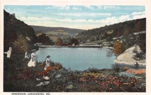 C33/ Lonaconing Maryland Md Postcard c1910 Reservoir Women Birdseye