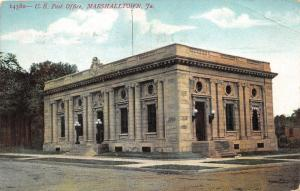 Marshalltown Iowa~US Post Office Corner Street View~1908 Postcard