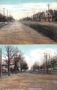 Charlotte North Carolina Dillworth and Piedmont Boulevard Postcard JI658462