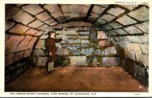 Florida St Augustine Fort Marion The Secret Dungeon Curteich