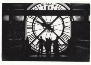 Paris Giant Clock Silhouette Museum D'Orsay Real Photo Postcard