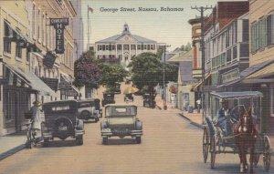 Bahamas Nassau George Street Curteich sk3345