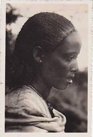 Snapshot, Native Girl (Side View), Libya, Africa, 1930-1940s
