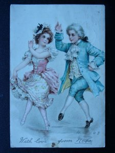 Romance Love DANCING COUPLE c1903 Postcard
