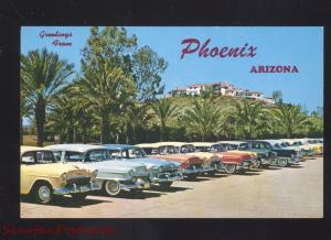 PHOENIX ARIZONA 1950's CARS BILTMORE HOTEL ENTRANCE VINTAGE POSTCARD