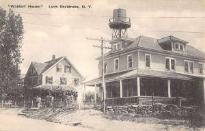Loch Sheldrake New York Waldorf House Street View Antique Postcard K64794