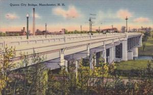Queen City Bridge Manchester New Hampshire 1955