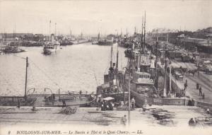 BOULOGNE-sur-MER , France , 00-10s ; Le Bassin a Flot et le Quai Chanzy