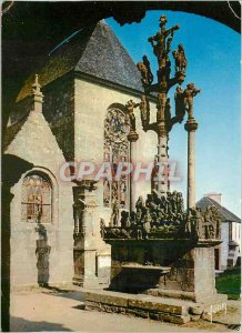 Postcard Modern Finistere Saint Thegonnec Calvary
