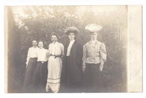 RPPC Real Photo 5 Women ca 1905