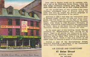 Massachusetts Boston Union Oyster House Restaurant 1982