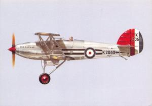 Postcard NEW Hawker Fury MK1 RAF Aircraft No.25 Squadron