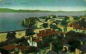 Gibraltar Rosia Bay Panoramic view Postcard