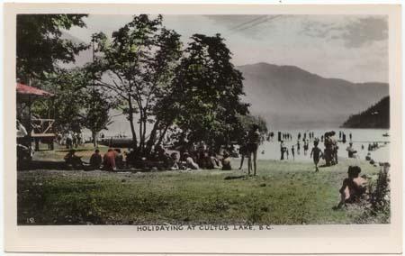 British Columbia - Actual Photo Card Cultus Lake BC