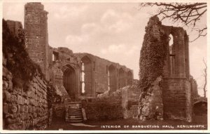 England Kenilworth Castle Interior Of Banqueting Hall Real Photo