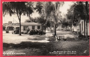 12665 Magnolia Grove Cottages & Gas Station, St. Augustine, Florida RPPC