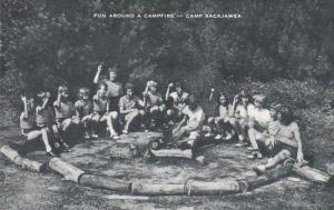 Fun Around A Campfire Camp Sacajawea New Jersey Artvue
