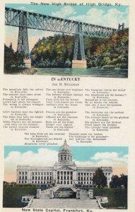 HIGH BRIDGE, Kentucky, 00-10s; New High Bridge, Poem, State Capitol in FRANKFORT