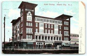 Postcard NJ Atlantic City 1908 Hotel Dunlop D4
