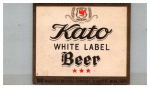 Kato White Label Beer Labell
