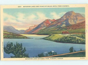 Linen HOTEL SCENE Waterton Park - Near Lethbridge Alberta AB AE1596