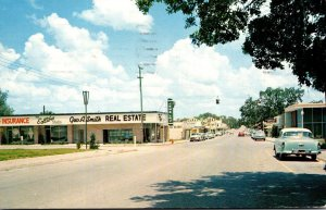 Florida New Port Richie West Main Street Business Section 1960