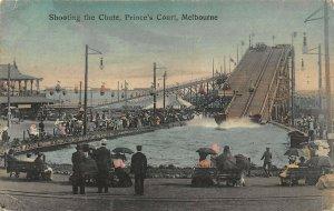 Australia Melbourne Shooting the Chute Prince's Court postcard