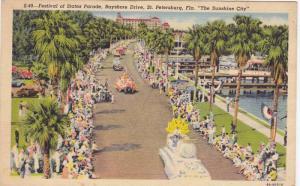 Festival of States Parade,Bayshore Drive,St.Petersburg,Florida,PU-30-40s