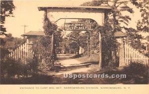 Entrance to Camp Welmet Narrowsburg NY Unused