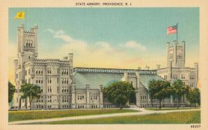 Postcard State Armory Providence Rhode Island