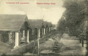 hungary, BALATONBERÉNY, Fürdö, Street Scene (1910s) Postcard