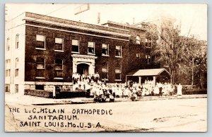 St Louis MO~McLain Orthopedic Sanitarium~Nurses~Crippled Children~1920s RPPC