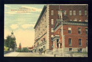 Pawtucket, Rhode Island/RI Postcard, Post Office, Masonic Building, City Hall